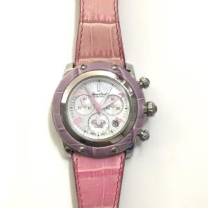 Orologio Crono Donna cinturino stampa cocco rosa ghiera pelle collezione Miami