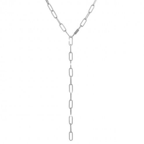 Collana argento diamanti Rebecca collezione Jolie catena