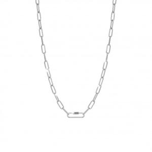 Collana argento e diamanti Rebecca collezione Jolie catena cm 55