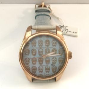 Orologio meccanico, quadrante con teschi messicani