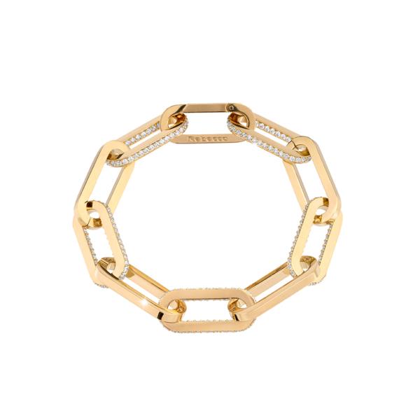 Bracciale bronzo placcato oro zirconi Rebecca collezione Stockholm