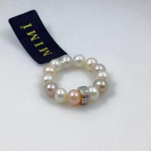 Anello Mimì in perle e argento multicolor