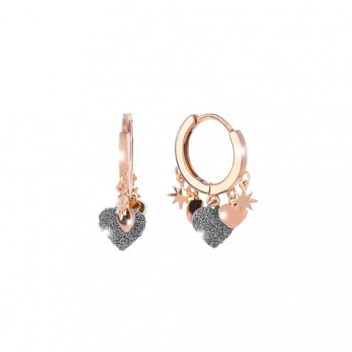 Orecchini In Argento e Diamanti Rebecca Collezione Jolie