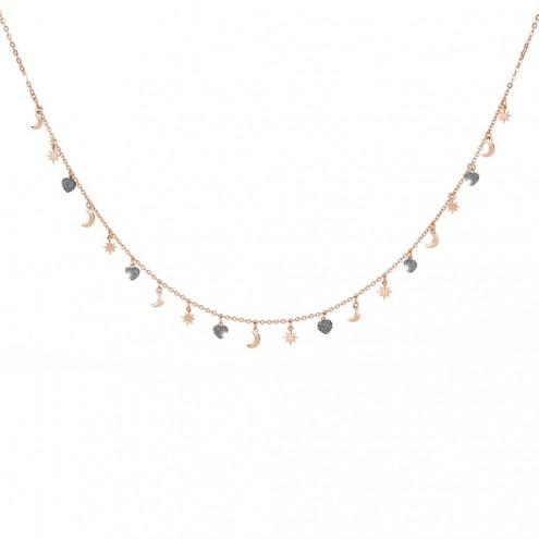 Collana In Argento e Diamanti Rebecca Collezione Jolie