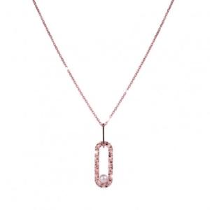 Bracciale Zero Pearl a catena diamantata con perle Rebecca