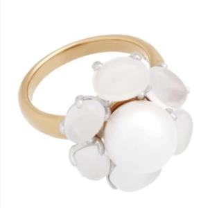 Anello Oro 18K, Mimi Milano, Rose Gold, Quartz White Freshwater Pearl