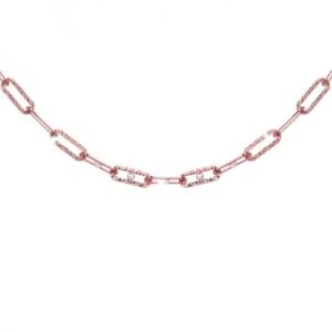 Girocollo Rebecca catena diamantata con perle